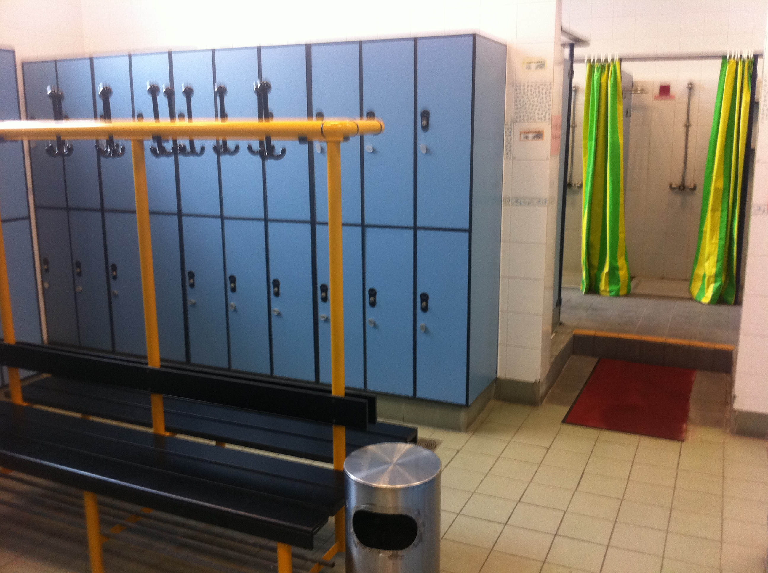 high school locker room